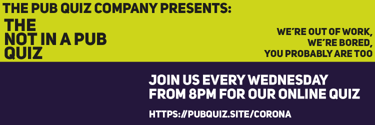 The Pub Quiz Company: Not in a pub quiz